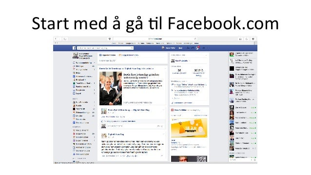 Start  med  å  gå  +l  Facebook.com