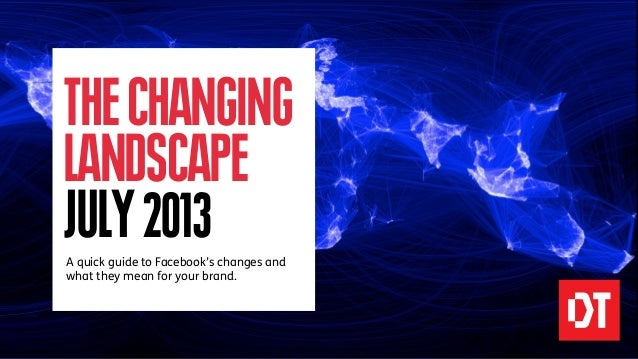 THECHANGING LANDSCAPE JULY2013A quick guide to Facebook's changes and what they mean for your brand.