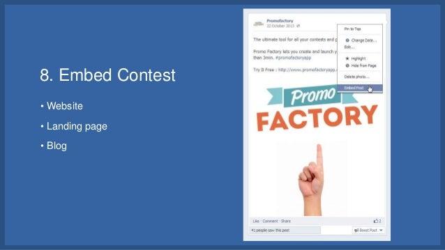 Facebook Timeline Contest Ideas