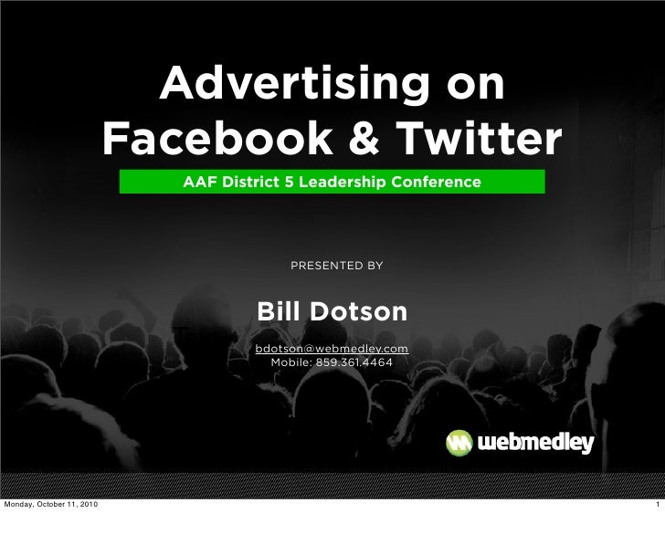 Paid Ads on facebook and Twitter