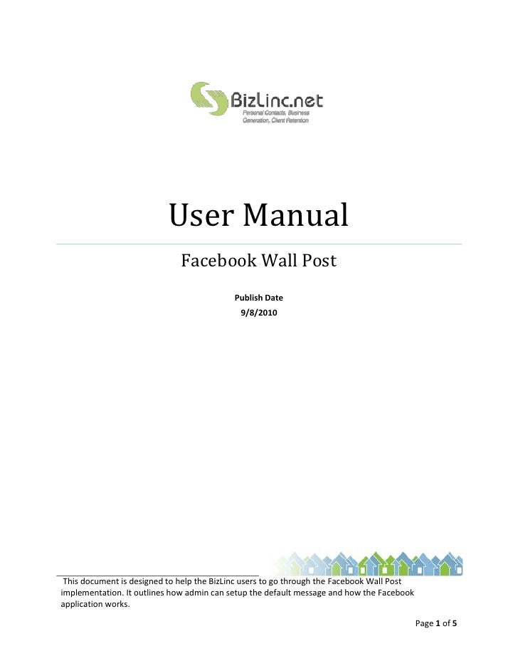facebook instruction manual