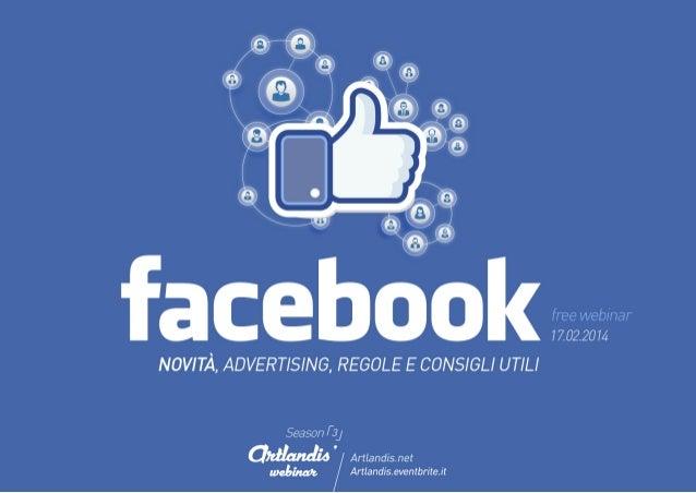 Facebook Marketing: novità, advertising e consigli utili (free webinar)