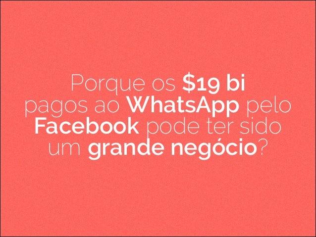 Porque os $19 bi pagos ao WhatsApp pelo Facebook pode ter sido um grande negócio?