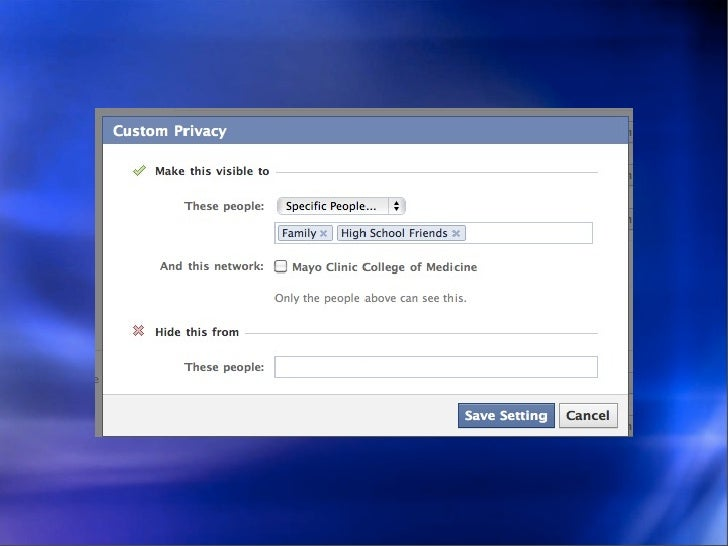 Facebook 111: Customized Privacy Protection in Facebook