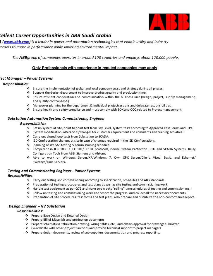 <br />514604030480             <br />           Excellent Career Opportunities in ABB Saudi Arabia<br />           ...