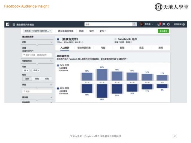 116天地人學堂:Facebook廣告操作與優化策略課程 Facebook Audience Insight