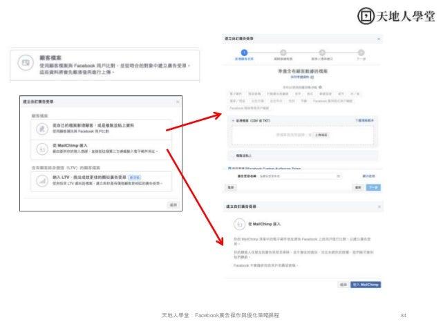 84天地人學堂:Facebook廣告操作與優化策略課程