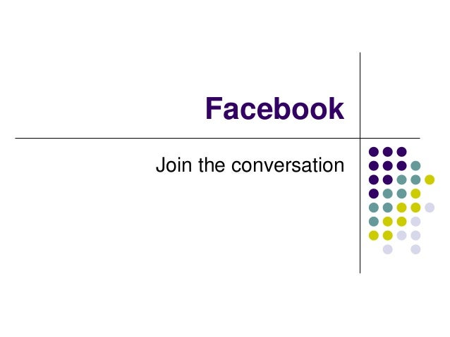 FacebookJoin the conversation