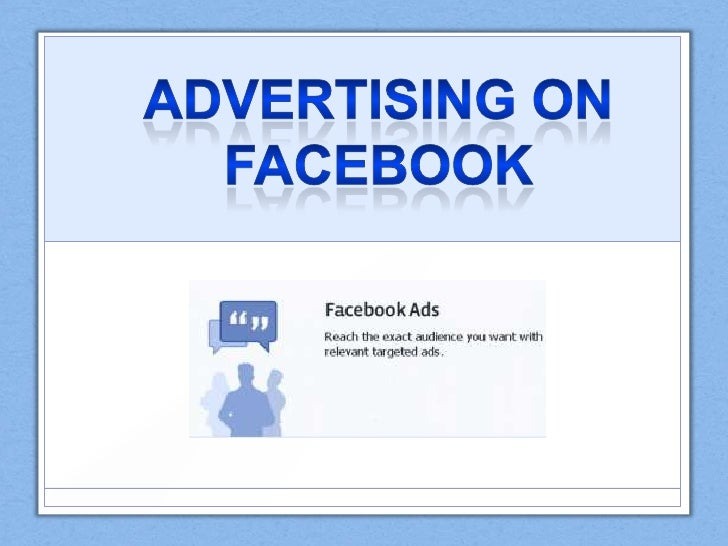 Advertising on Facebook<br />