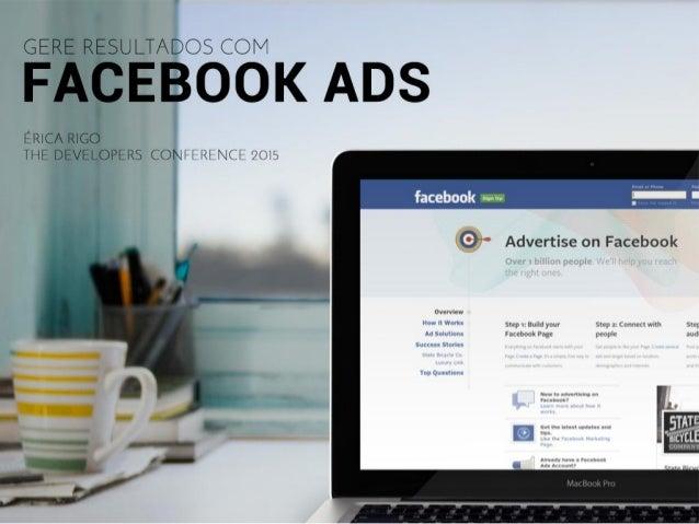 Gere resultados com Facebook Ads