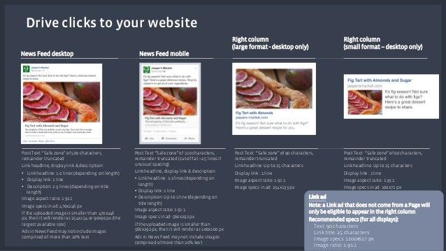 News Feed desktop News Feed mobile  Right column  (large format - desktop only)  Right column  (small format – desktop onl...