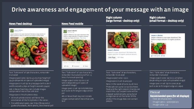 """Drive awareness and engagement of your message with an image  Text: """"Safe zone"""" of 500 characters, remainder  truncated  I..."""