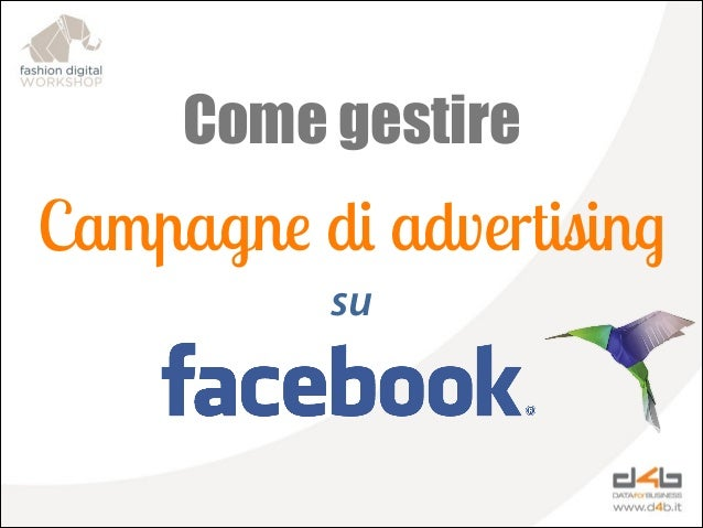 Come gestire  Campagne di advertising su