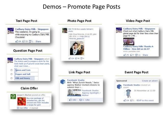 Demos – Promote Page PostsPhoto Page PostText Page Post Video Page PostQuestion Page PostLink Page Post Event Page PostCla...