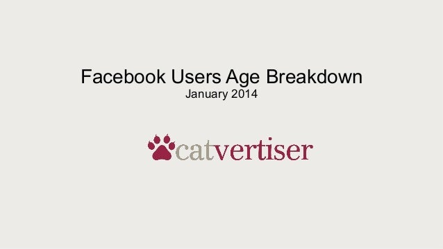 Facebook Users Age Breakdown January 2014