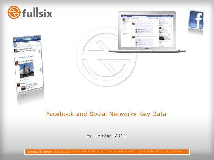 Facebook and Social Networks Key Data<br />September2010<br />