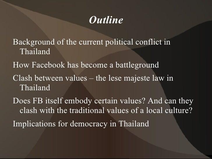 Facebook and thai politics Slide 3