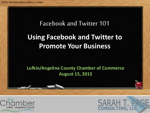 Photo: Charlottes Photo Gallery on Flickr Facebook and Twitter 101 Using Facebook and Twitter to Promote Your Business Luf...