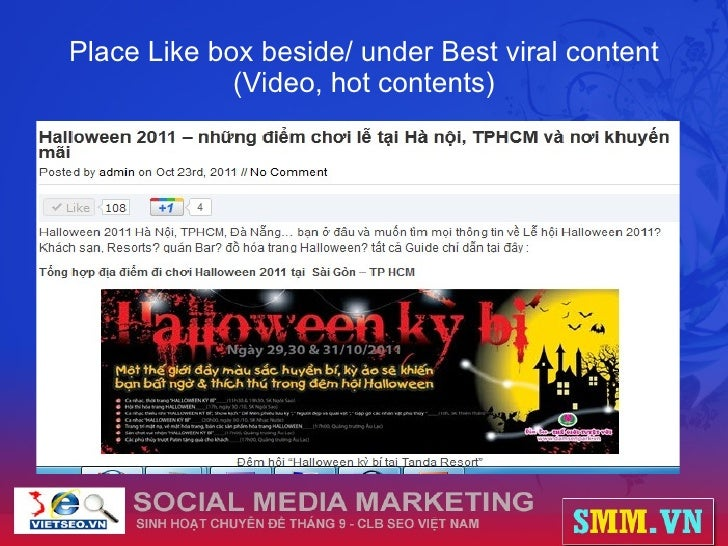 Place Like box beside/ under Best viral content (Video, hot contents)
