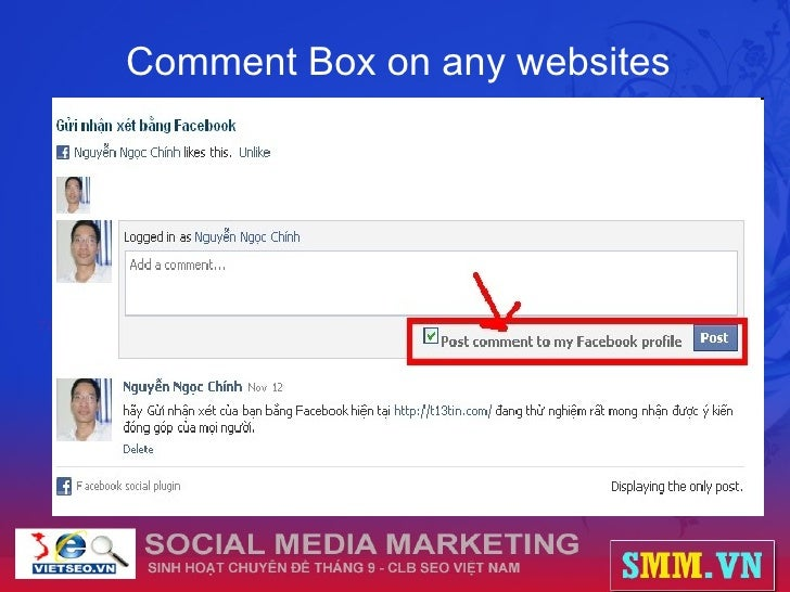 Comment Box on any websites