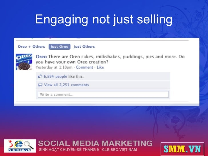 Engaging not just selling