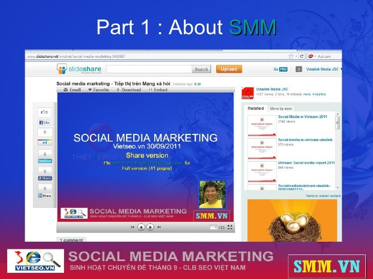 Part 1 : About  SMM