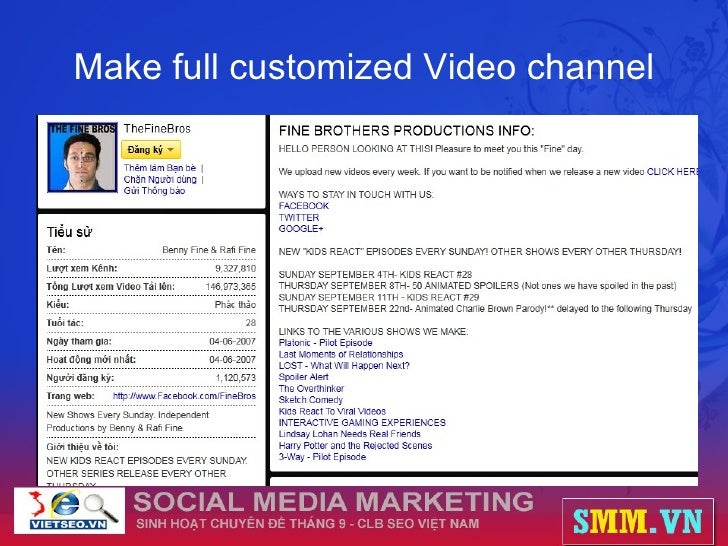Make full customized Video channel