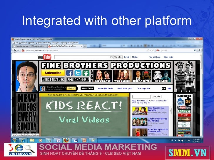 Integrated with other platform