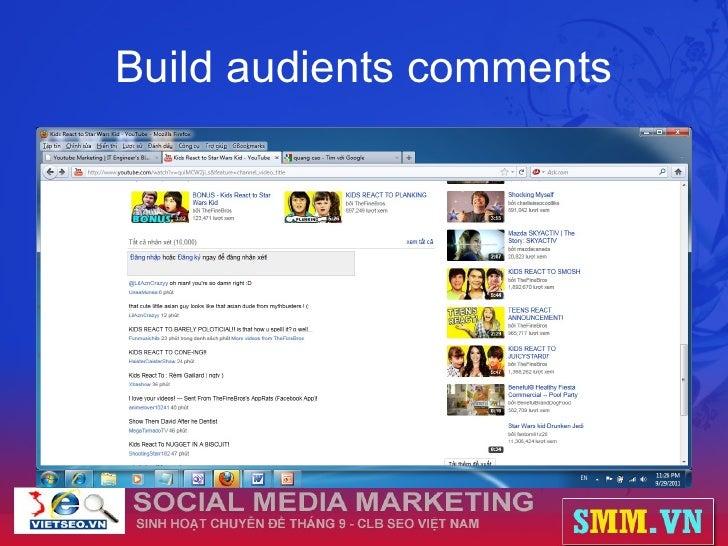 Build audients comments