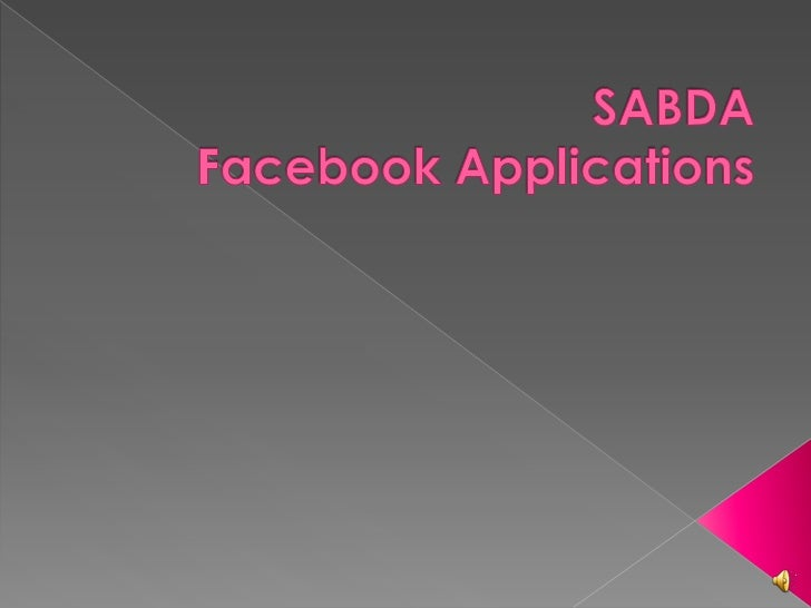 SABDAFacebook Applications<br />