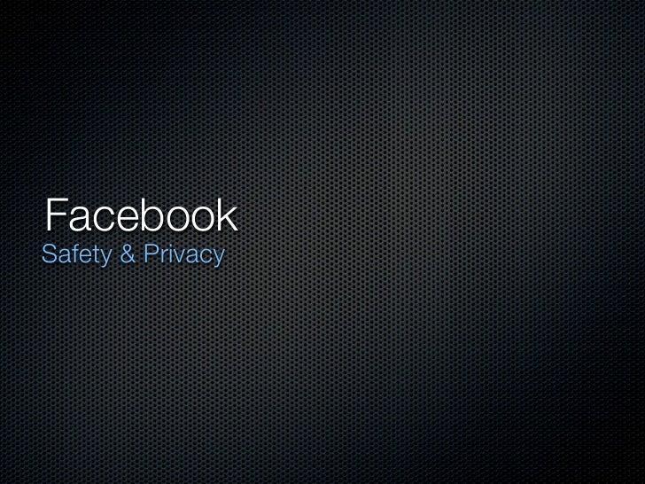 FacebookSafety & Privacy