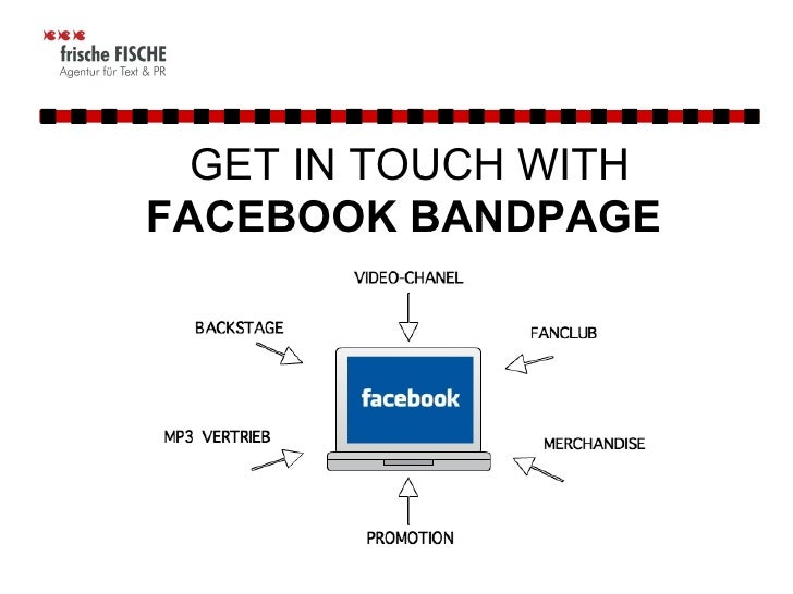 GET IN TOUCH WITH  FACEBOOK BANDPAGE