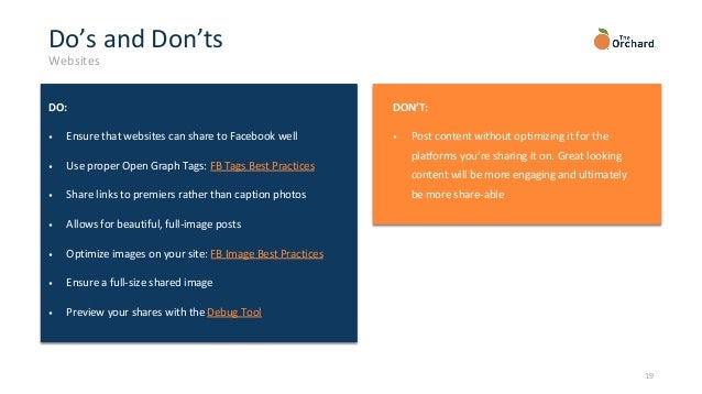 Facebook Is Great For Sharing Pictures >> Facebook Best Practices 2019
