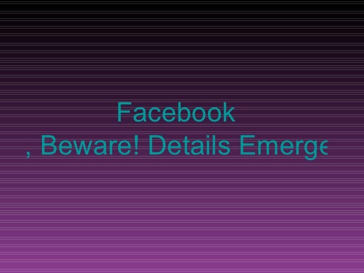 Facebook , Beware! Details Emerge on 'Google Me' Rival