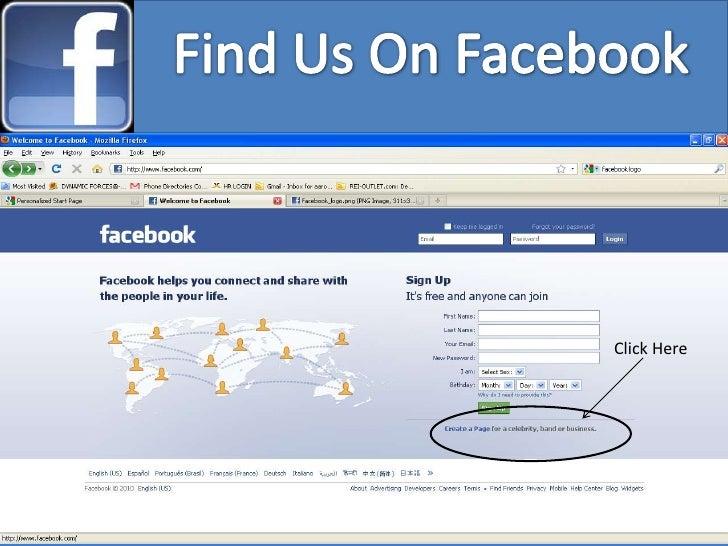 Find Us On Facebook<br />Click Here<br />