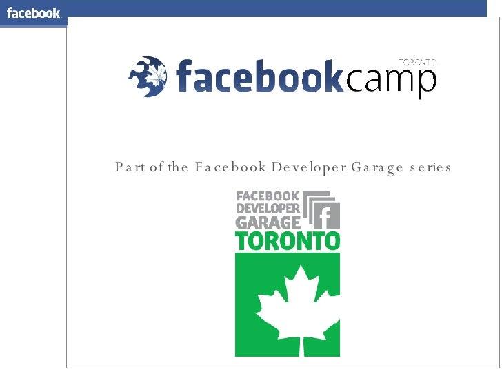 Part of the Facebook Developer Garage series