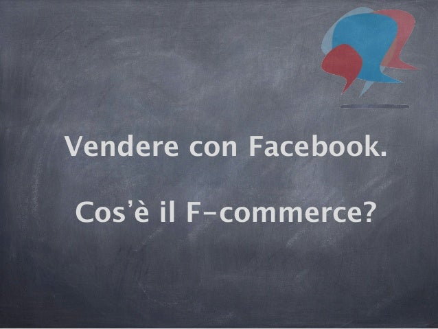 Vendere con Facebook.