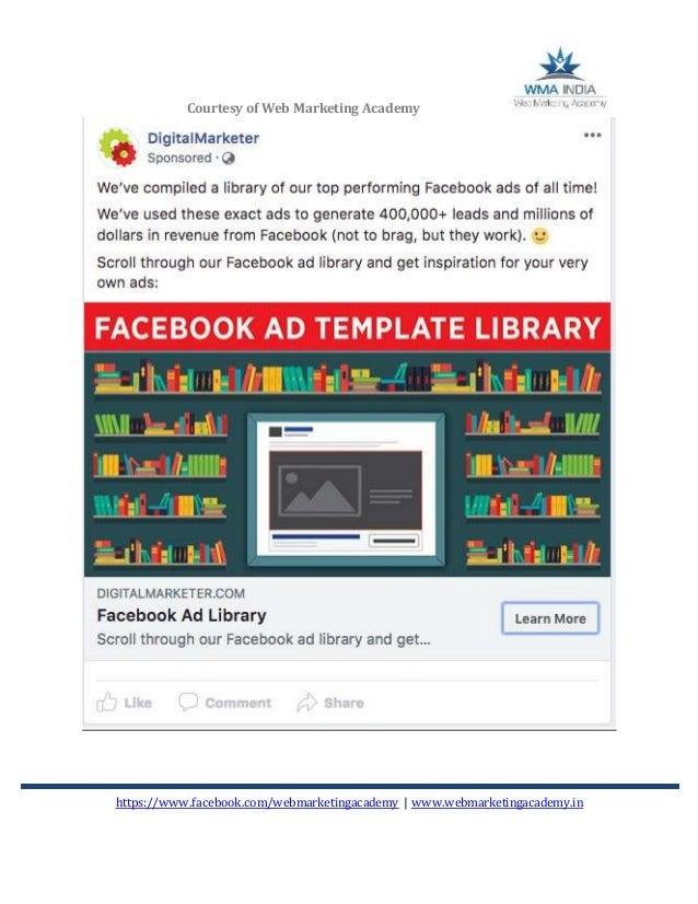 Facebook Competitor Analysis 2018 Web Marketing Academy Bangalore