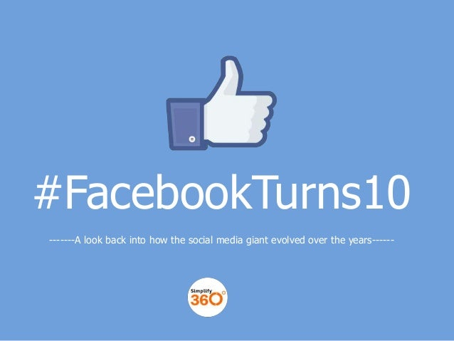 #FacebookTurns10 -------A look back into how the social media giant evolved over the years------