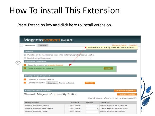 How To install This Extension Paste Extension key and click here to install extension.