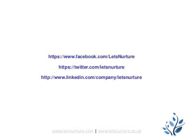 Follow us on https://www.facebook.com/LetsNurture https://twitter.com/letsnurture http://www.linkedin.com/company/letsnurt...