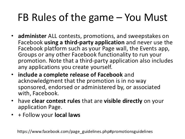 Fb contest rules