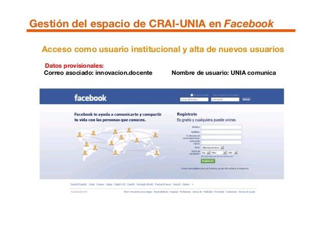 Acceso como usuario institucional y alta de nuevos usuarios Datos provisionales: Correo asociado: innovacion.docente Nombr...