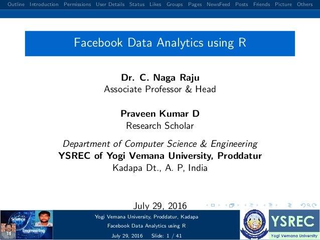 Facebook data analysis using r