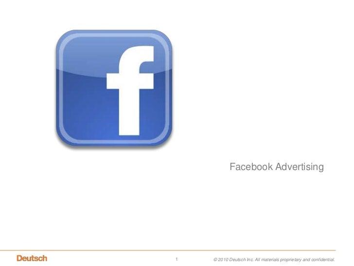 Facebook Advertising <br />