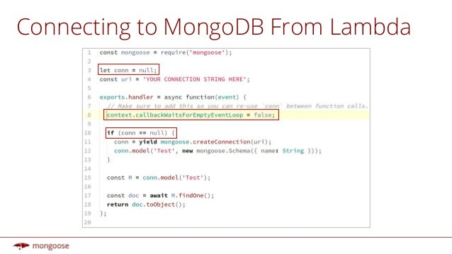 mongoose findone async