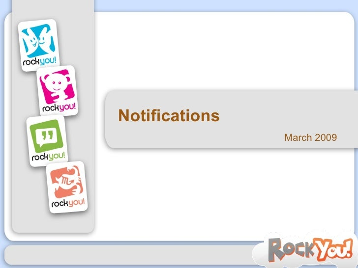 Notifications March 2009
