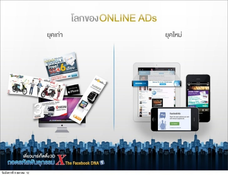 โลกของ ONLINE ADs                           ยุคเก‹า                   ยุคใหม‹                                       Bann...