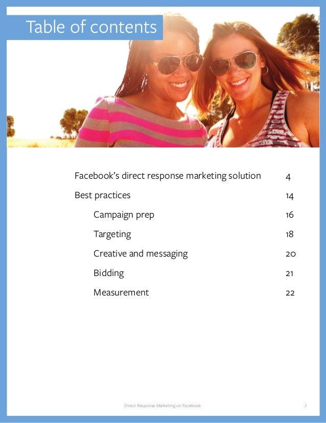 Direct Response Marketing on Facebook