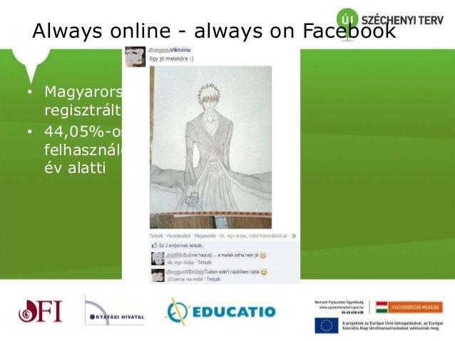 Tanárok és diákok a Facebookon Slide 2